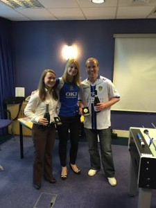 I presented the SFB team with their prizes