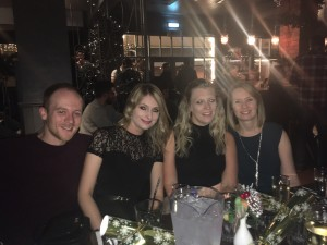 Myself and representatives from Mander Hadley, HCB Accountants and Aston Martin enjoying the Christmas party